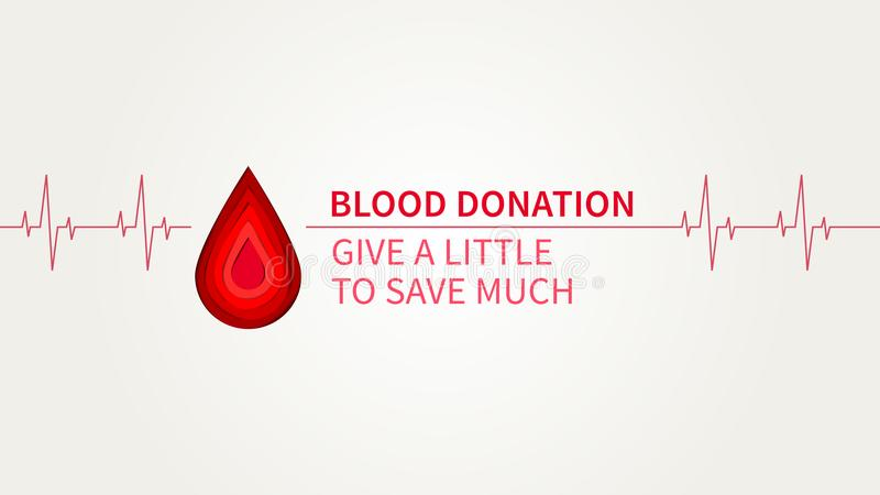 La donación de sangre da un poco para ahorrar mucho ejemplo del vector ilustración del vector