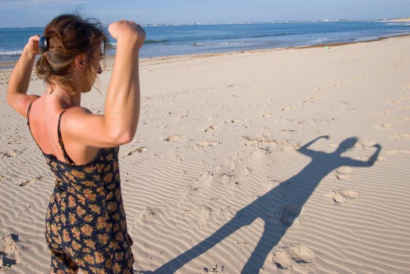 La donna, è forte! fotografia stock libera da diritti