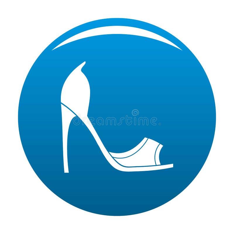 La donna calza il blu dell'icona illustrazione di stock