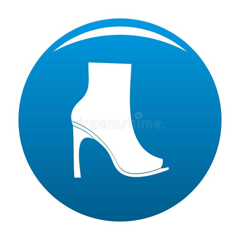 La donna calza il blu dell'icona illustrazione vettoriale