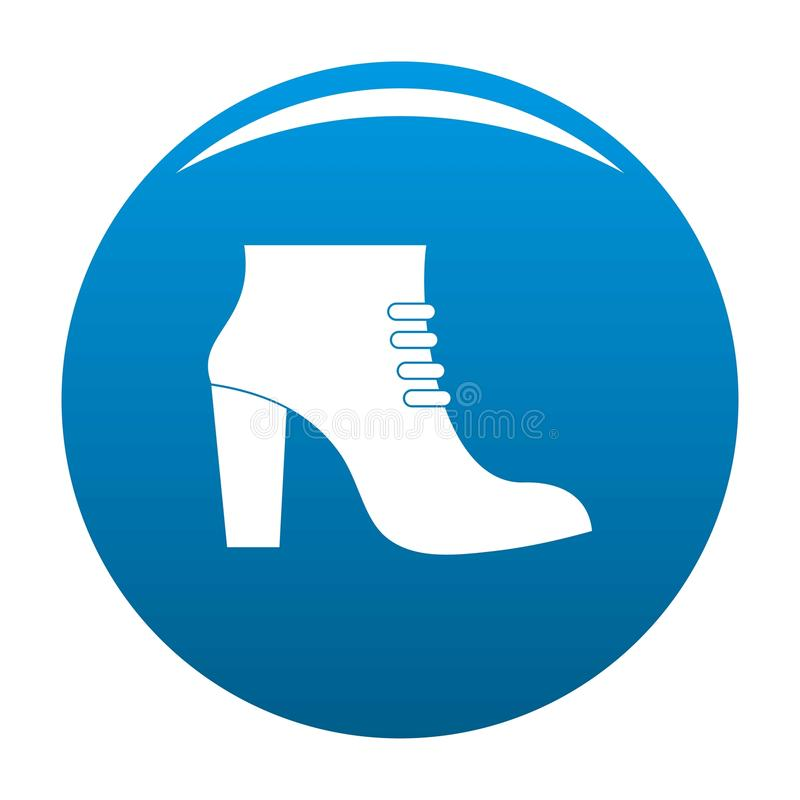 La donna calza il blu dell'icona royalty illustrazione gratis