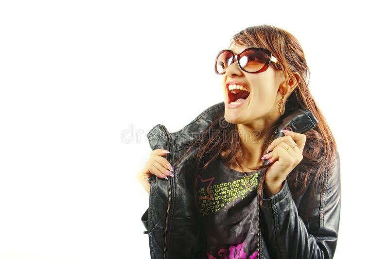 La donna che grida dal piacere fotografia stock libera da diritti