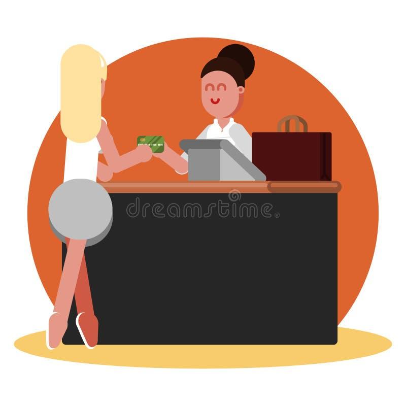 La donna compra l'abbigliamento royalty illustrazione gratis