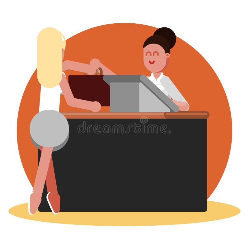 La donna compra l'abbigliamento illustrazione di stock