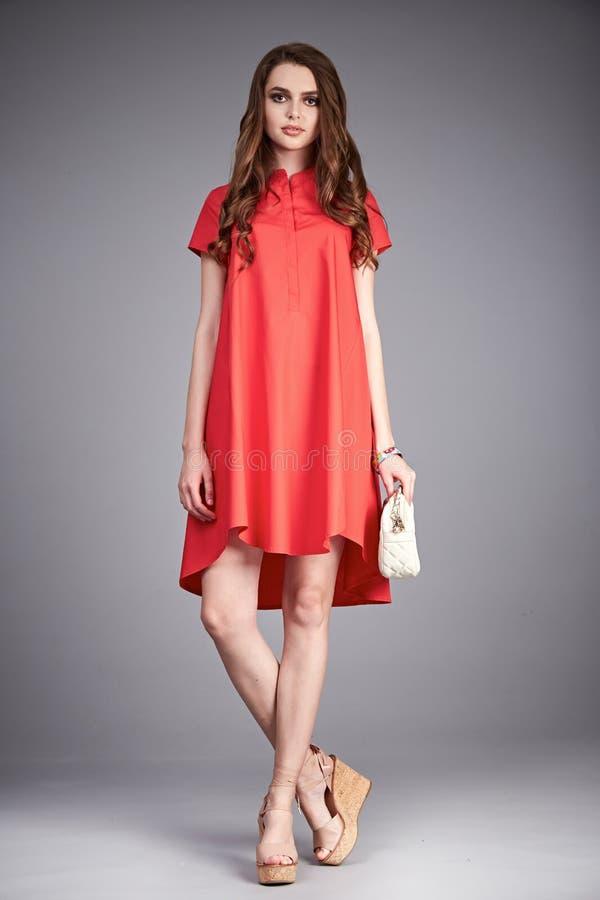 La donna del vestito copre la raccolta del modello di stile di modo fotografie stock libere da diritti