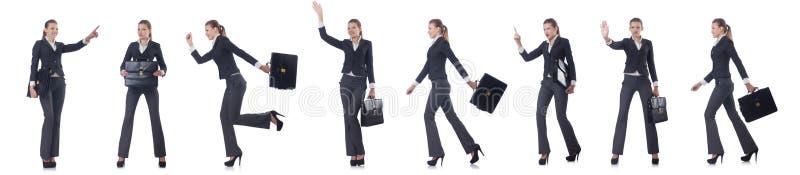 La donna di affari della donna isolata su bianco illustrazione di stock