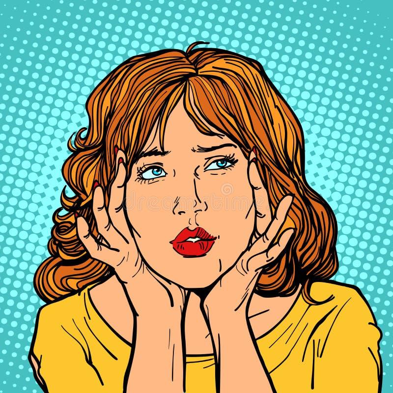 La donna ha un'emicrania royalty illustrazione gratis