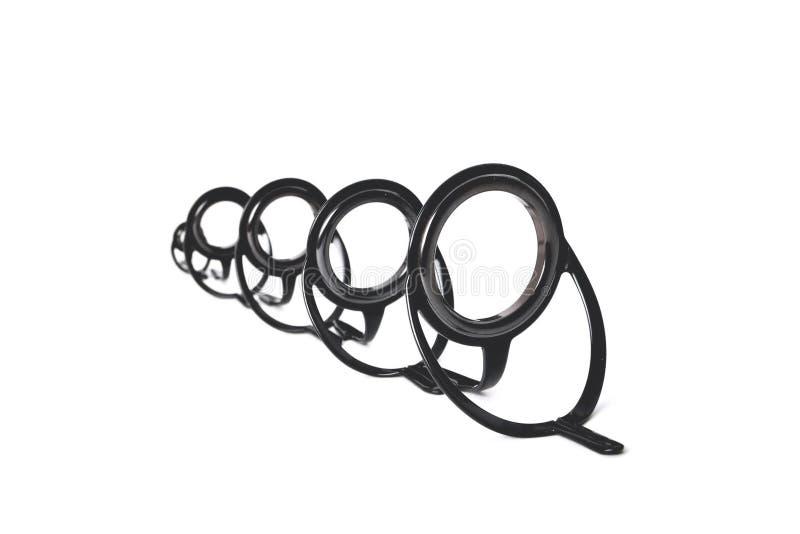La doppia fasciatura della gamba suona per le canne da pesca di vario posto del primo piano di dimensioni per un'iscrizione fotografie stock libere da diritti