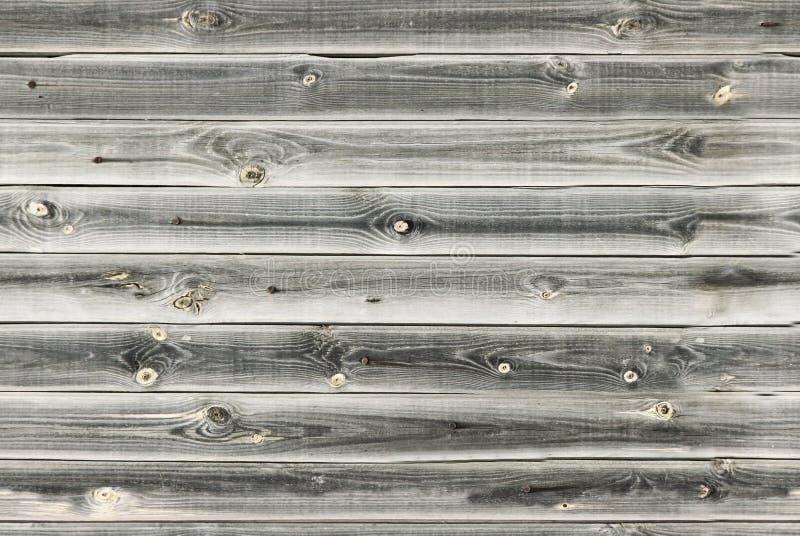 La doublure en bois embarque le mur Texture en bois blanche et grise vieux panneaux de fond, modèle sans couture Planches horizon image libre de droits