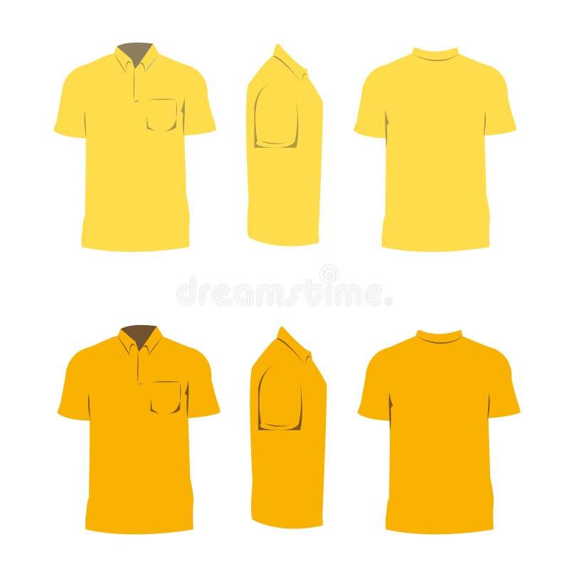 La douille courte de chemise jaune pour la conception illustration libre de droits