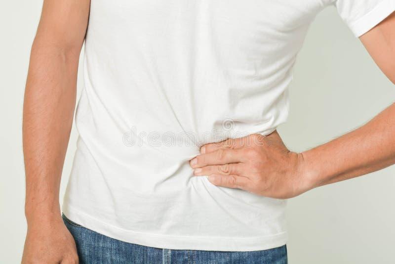 La douleur abdominale est partie image libre de droits