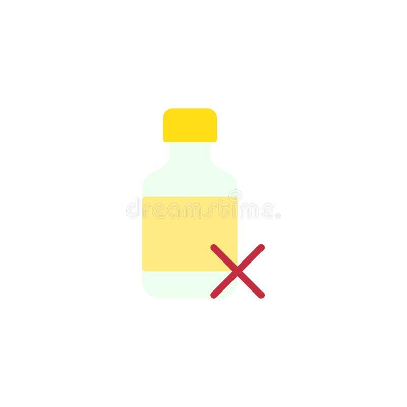 La droga médica quita el icono plano stock de ilustración