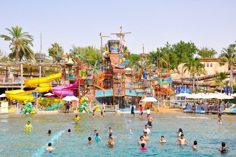 LA DUBAI 6 GIUGNO: Wadi Water Park selvaggio giugno 6,2009 nel Dubai. fotografia stock libera da diritti