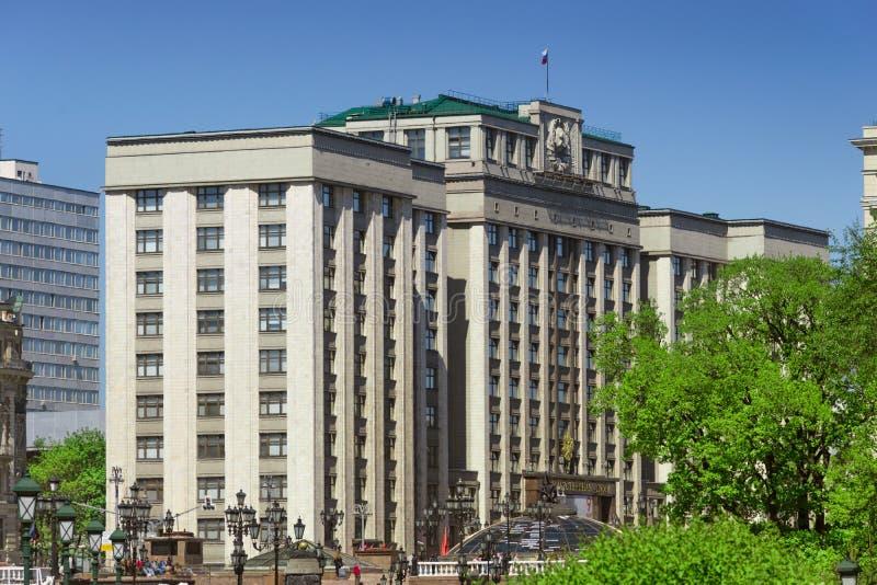 La Duma de estado de la Federación Rusa en Moscú imagenes de archivo