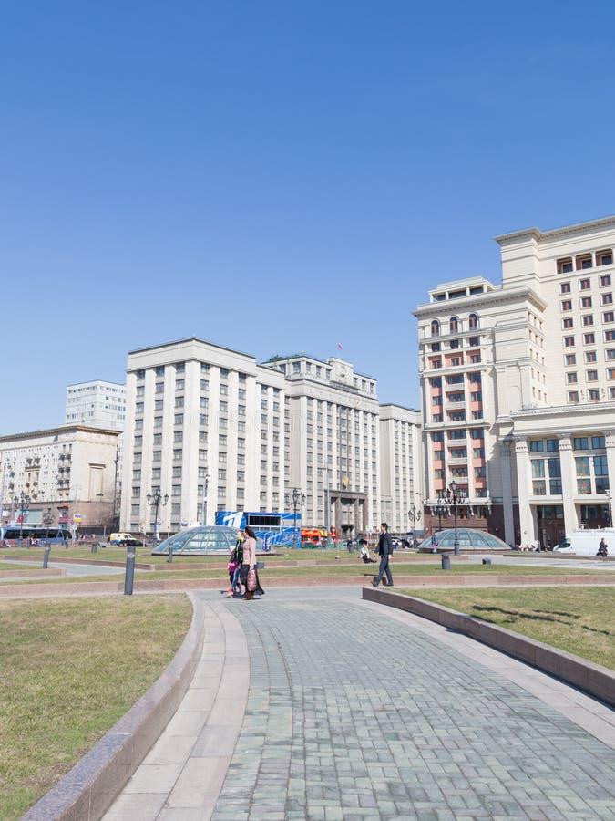 La Duma de estado - la visión desde el cuadrado de Manezh foto de archivo