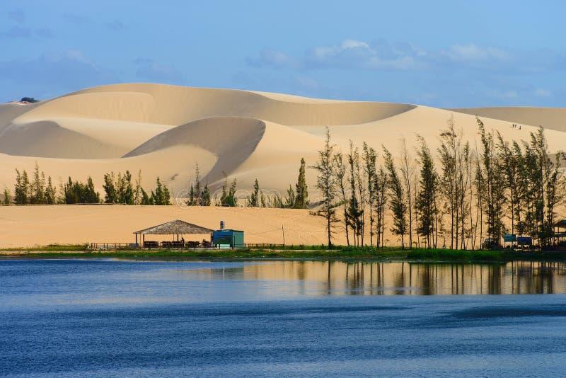 Duna de arena blanca en Ne de Mui, Vietnam fotografía de archivo