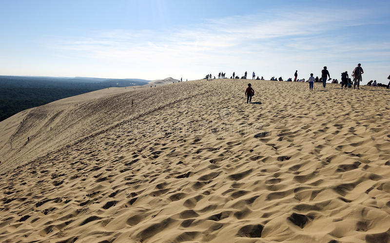 La duna de Pilat en Francia imagen de archivo libre de regalías
