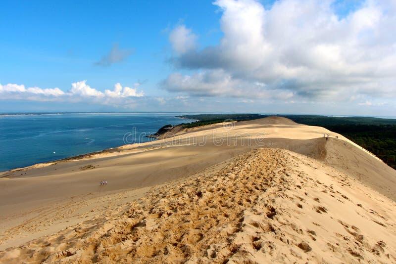 La duna de Pilat - las Landas (amarra) imagen de archivo libre de regalías