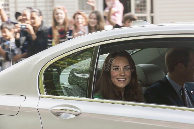 La duquesa de Cambridge fotografía de archivo