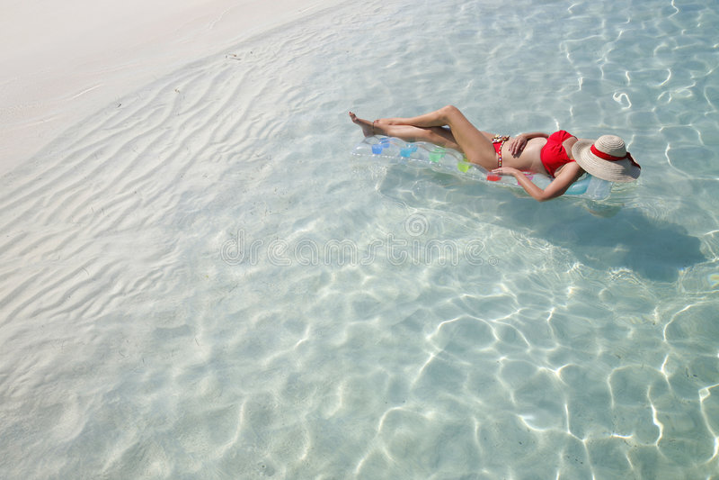 La durée est une plage (Lilo) photographie stock