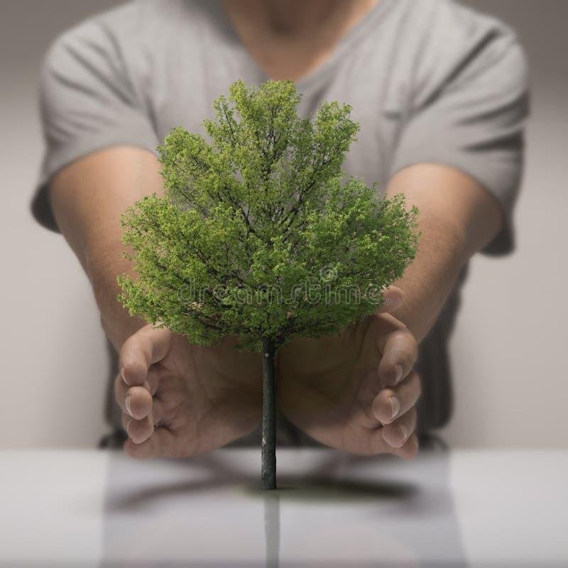La ecología, protege la naturaleza stock de ilustración