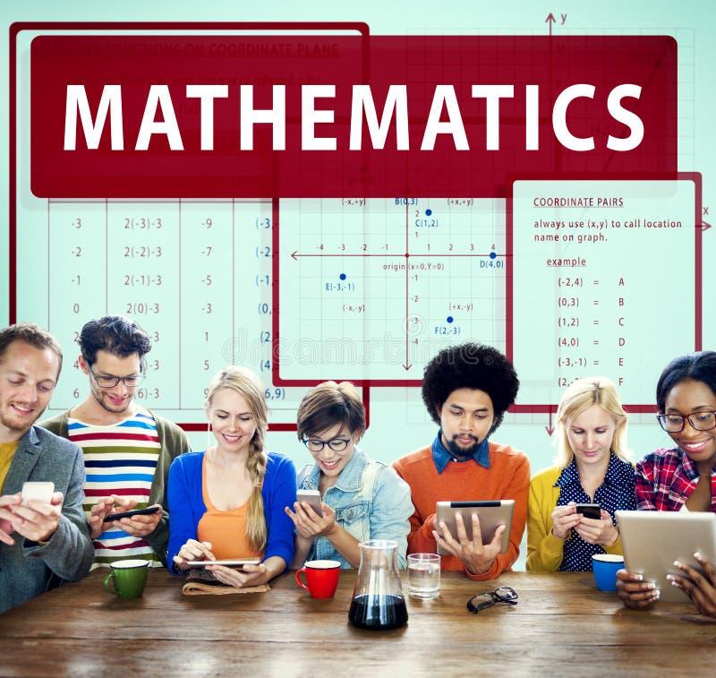 La ecuación de las matemáticas calcula concepto de la función de la álgebra fotografía de archivo libre de regalías