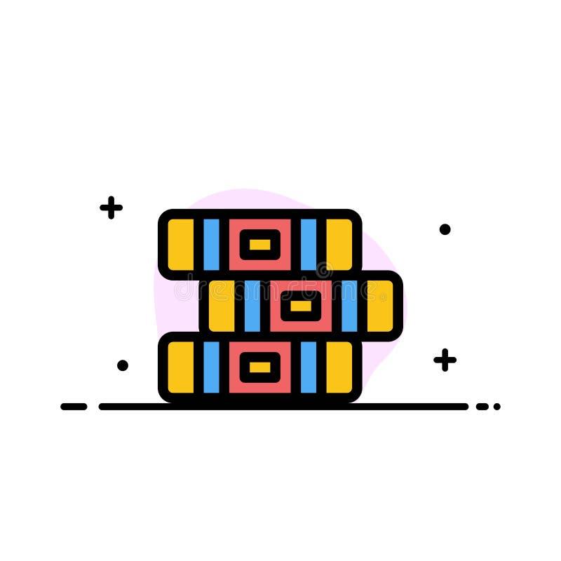 La educación, cuaderno, línea plana del negocio inmóvil llenó la plantilla de la bandera del vector del icono libre illustration