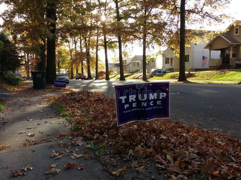 La elección presidencial 2016, triunfo, peniques de los E.E.U.U., hace América grande otra vez foto de archivo