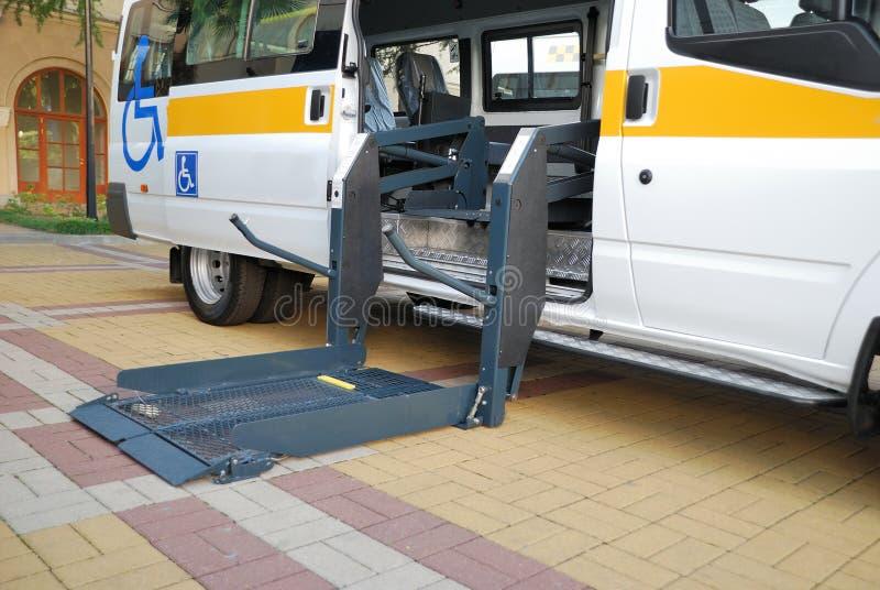 La elevación para el sillón de ruedas