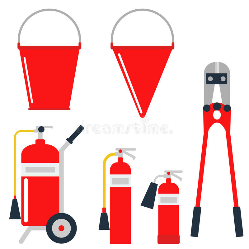 La emergencia del equipo de seguridad contra incendios equipa el ejemplo seguro del vector de la protección del accidente del pel libre illustration