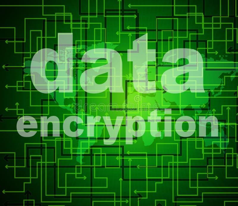 La encripción de datos indica contraseña y cifra protegidas libre illustration
