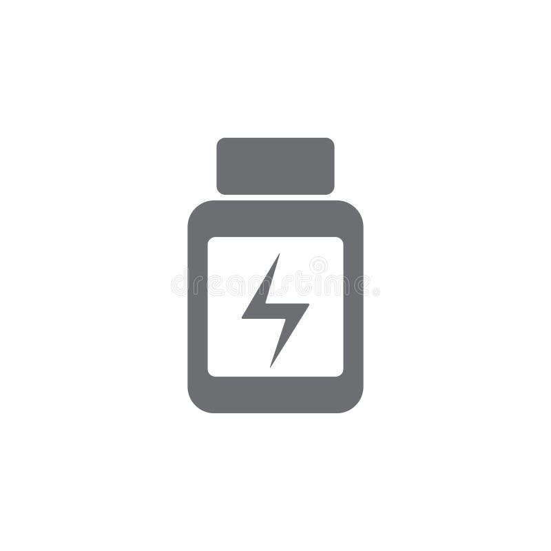 la energía hace tabletas el icono Ejemplo simple del elemento plantilla del diseño del símbolo de las tabletas de la energía Pued stock de ilustración