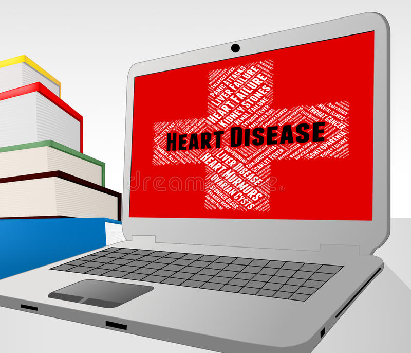 La enfermedad cardíaca representa mala salud y malo ilustración del vector
