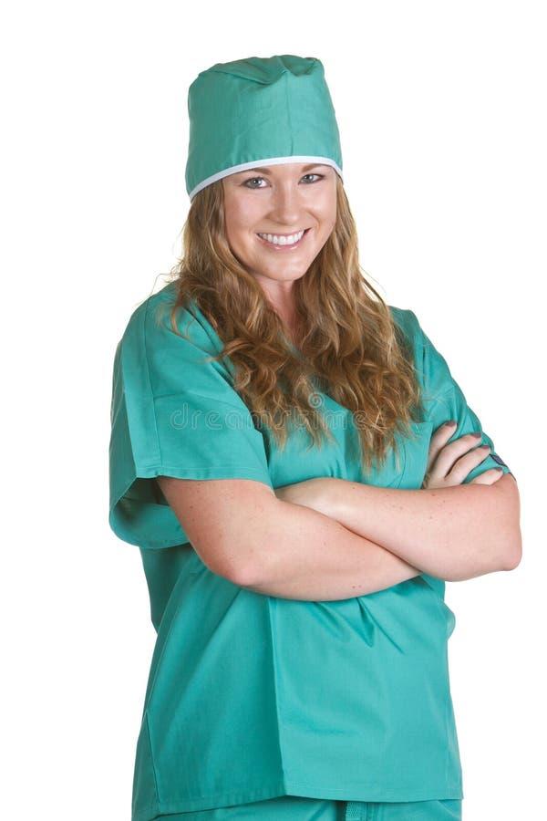 La enfermera adentro friega foto de archivo libre de regalías