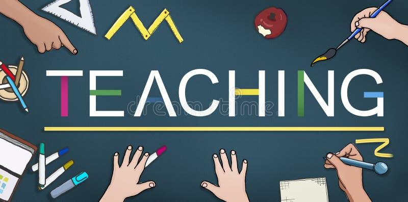 La enseñanza enseña al profesor Training Development Concept libre illustration