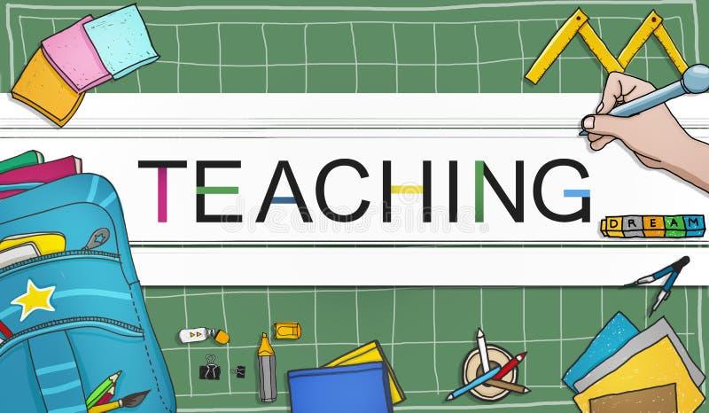 La enseñanza enseña al profesor Training Development Concept stock de ilustración