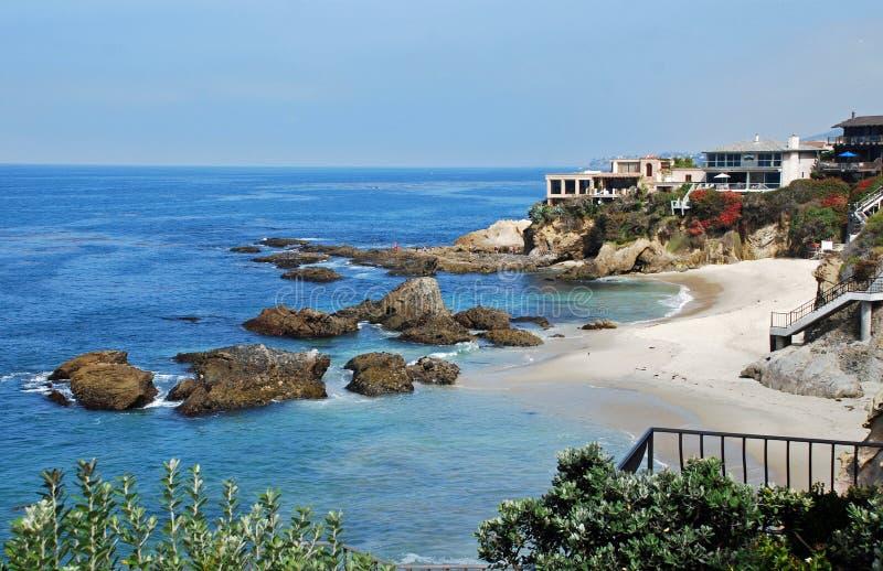 Ensenada de maderas, Laguna Beach, California. fotografía de archivo libre de regalías