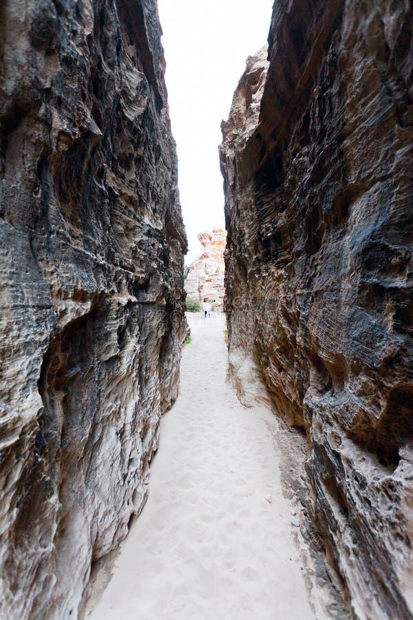 La entrada al Al Beidha - poco Petra, Jordania imagen de archivo