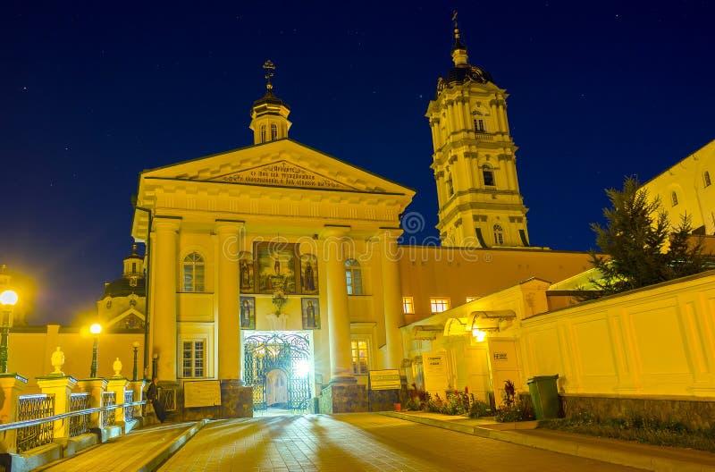 La entrada central de Pochev Lavra fotos de archivo