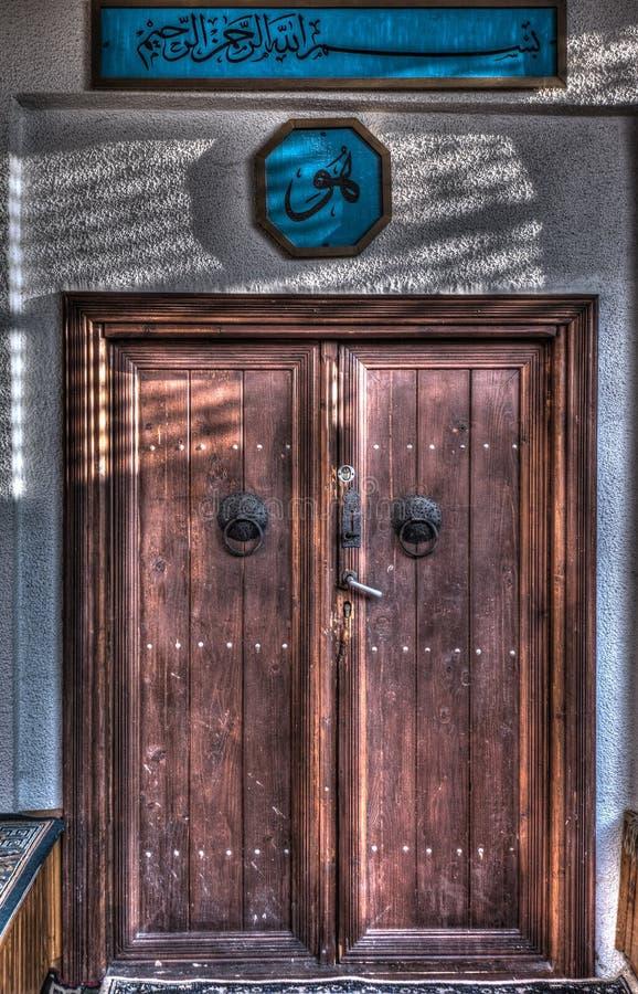 La entrada de la mezquita vieja fotos de archivo