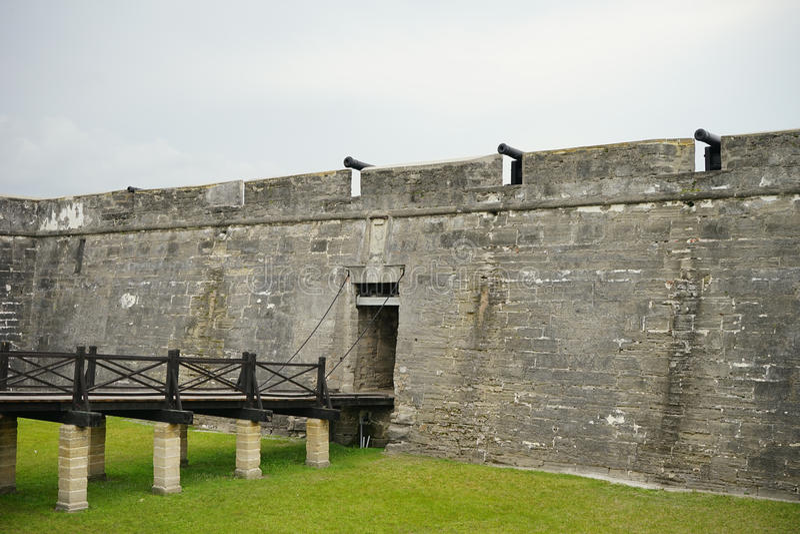 La entrada del fuerte Castillo de San Marcos imagenes de archivo