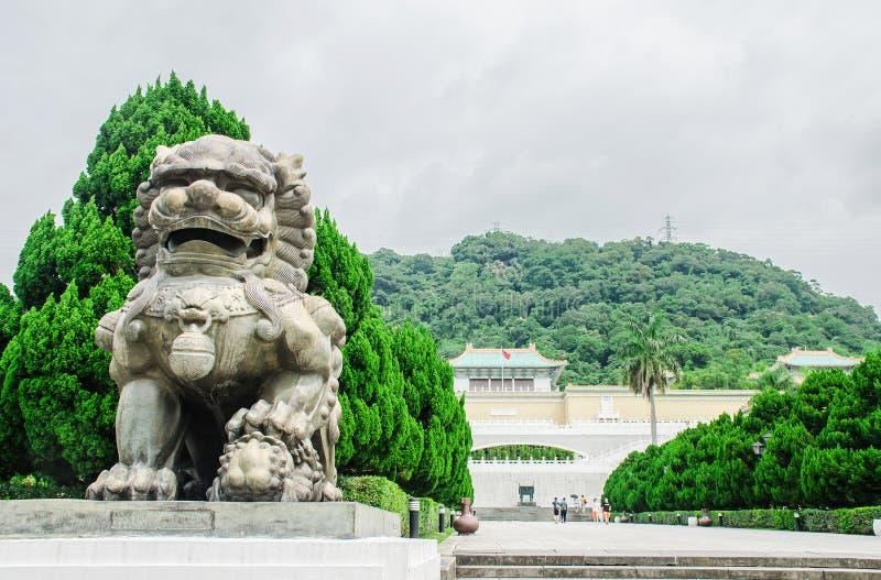 La entrada del museo de palacio nacional de Taiwán, el museo de palacio nacional en Taiwán es uno de los artefactos imperiales ch imagen de archivo libre de regalías