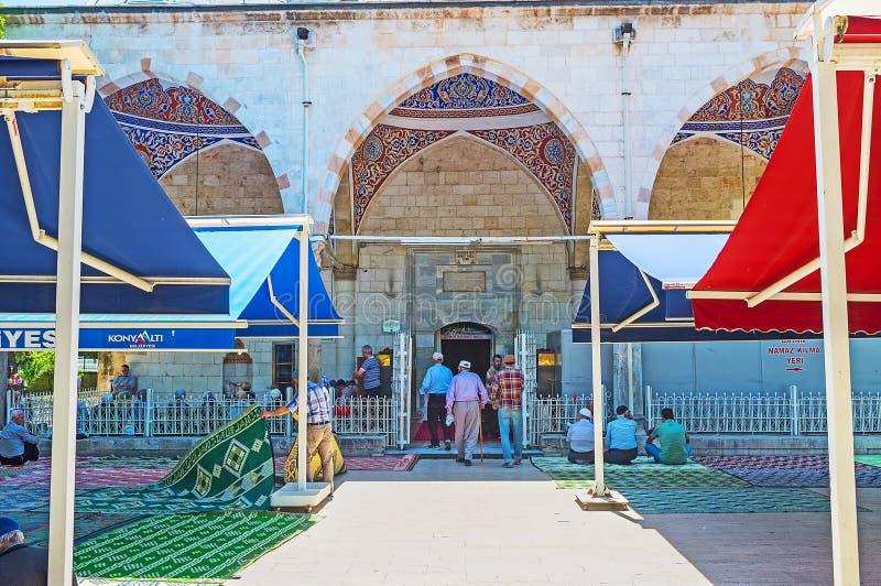La entrada a la mezquita de Muratpasa, Antalya imagenes de archivo