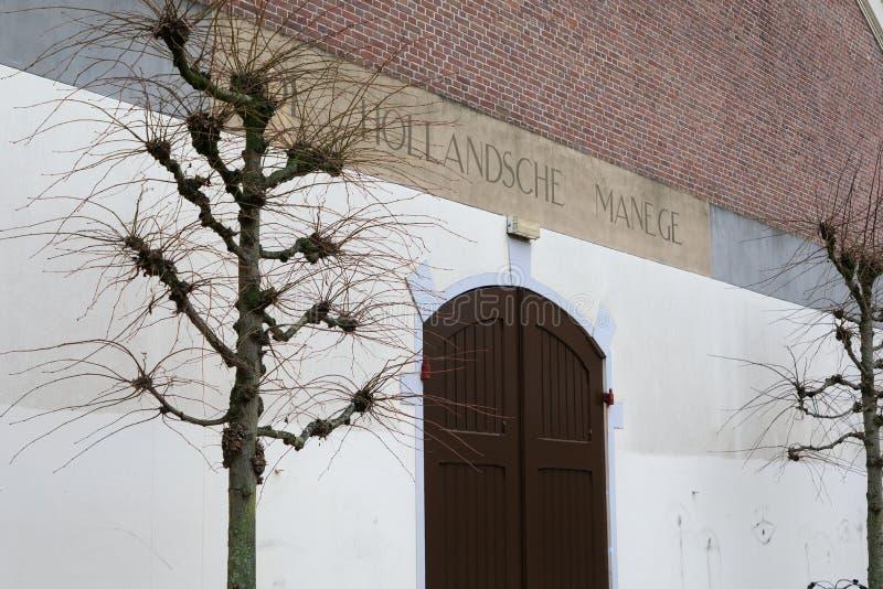 La entrada principal al Hollandsche Manege, Amsterdam foto de archivo