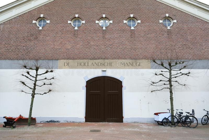 La entrada principal al Hollandsche Manege, Amsterdam fotografía de archivo libre de regalías