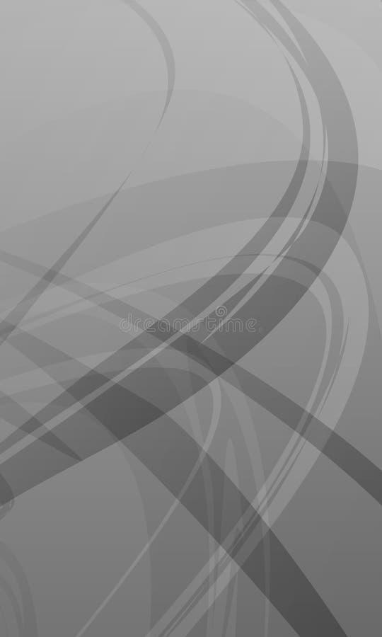 La escala gris del vector abstracto sombreó el fondo ondulado, papel pintado, ejemplo del vector ilustración del vector