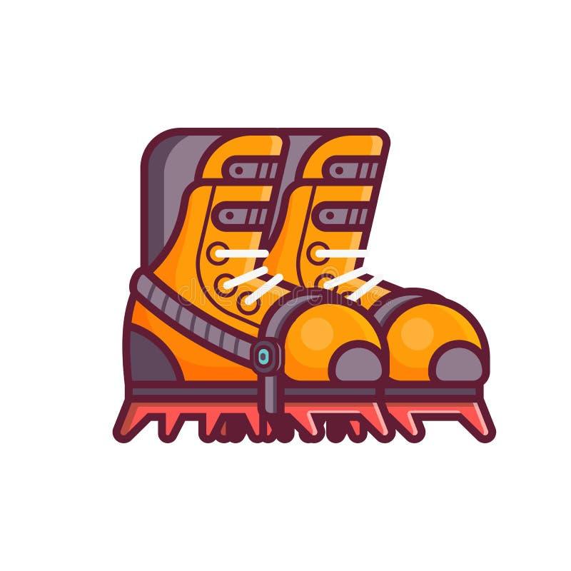La escalada patea el icono libre illustration
