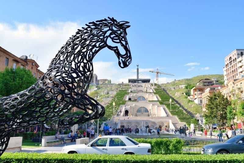 La escalera de la cascada, Ereván, Armenia fotos de archivo libres de regalías