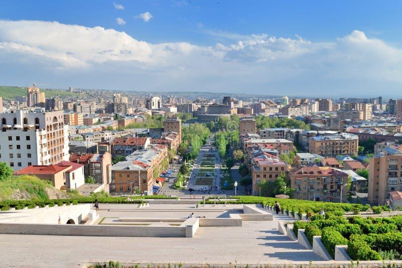 La escalera de la cascada, Ereván, Armenia imagen de archivo