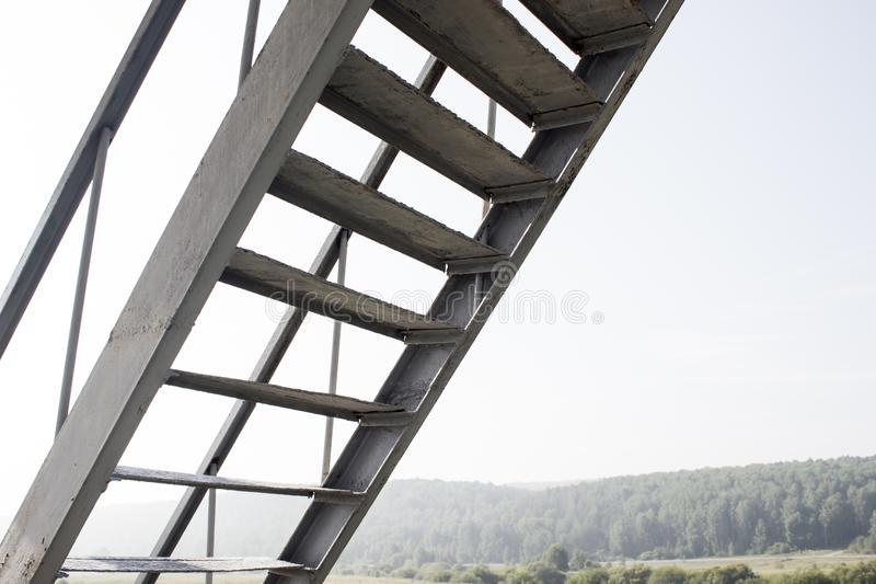 La escalera del hierro foto de archivo